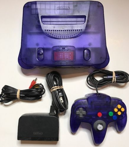 Nintendo 64 Funtastic Grape Purple Console W Expansion Pack Fast Free Ship 119 99 End Date Thursday Dec 28 2017 14 45 Console Nintendo 64 Gaming Products