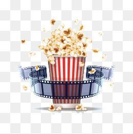 Popcorn And Film Popcorn Film Vector Popcorn Png And Vector Clip Art Popcorn Food Png