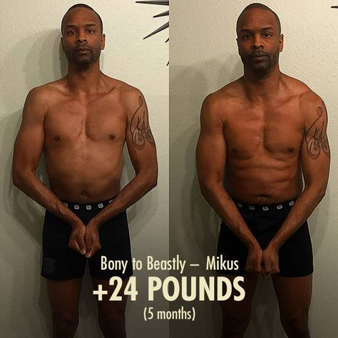 Pin on The Best Ectomorph Transformations / Before and Afters