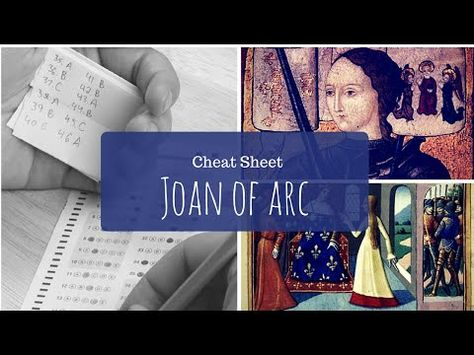 Joan of Arc - History Cheat Sheet 5 - YouTubeKid freindly quick facts of Joan of Arc for week 5 CC cycle 2