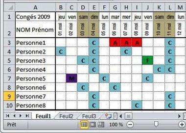Modele Planning Conges 2014 Avec Images Astuces Pour Ordinateur Cours Informatique Logiciel Informatique