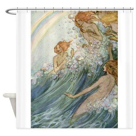 Mermaids Sea Fairies Shower Curtain