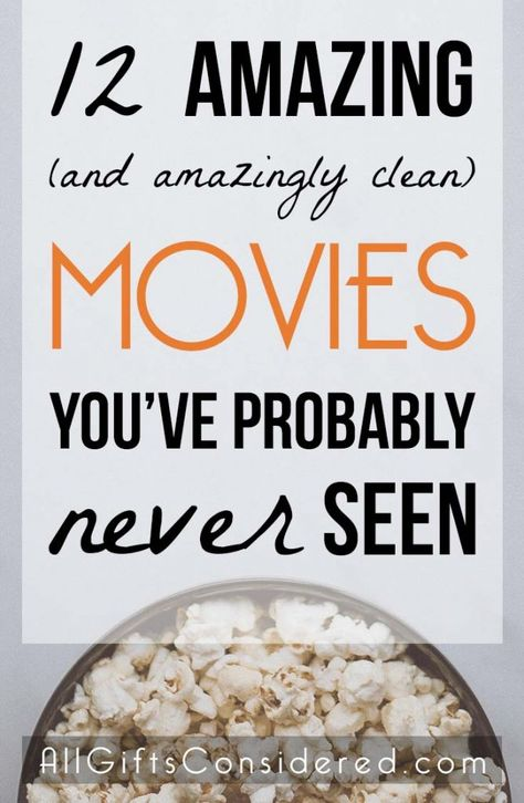 These 12 films are amazing and amazingly clean movies that you have probably never seen. Maybe you've never even heard of them. All the better! You're in for a real treat. These are clean movies… Top Movies To Watch, Netflix Movies To Watch, Movie To Watch List, Shows On Netflix, Movie List, Amazing Movies To Watch, Netflix Kids, 2020 Movies, Romance Movies