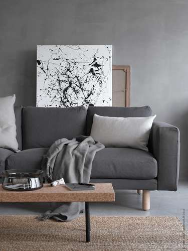 J Aime Cette Photo Sur Deco Fr Et Vous Deco Salon Canape Gris Ikea Et Idee Salon