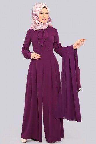 Sifon Yelekli Tesettur Tulum Mdh6537 Murdum Moda Stilleri Mutevazi Moda Elbise