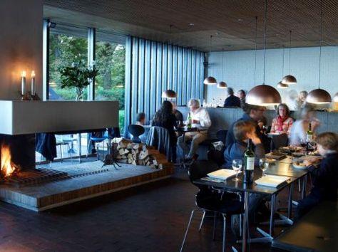 Louisiana Cafe - Louisiana Museum of Modern Art Visit Copenhagen - ehemaligen thermalbadern modernen jacuzzi