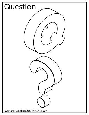 Q For Question Alphabet Coloring Pages Preschool Coloring Pages Letter Q Crafts
