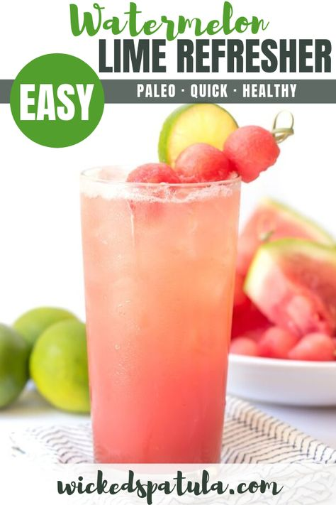 Lime Watermelon Coconut Water Recipe (A Natural Sports Drink)- This coconut water recipe is a NATURAL SPORTS DRINK! Cool lime watermelon coconut water is the natural hydration you've been looking for and takes 5 min to make. Coconut Water Drinks, Coconut Water Recipes, Coconut Water Smoothie, Refreshing Drinks, Summer Drinks, Fun Drinks, Healthy Drinks, Beverages, Party Drinks