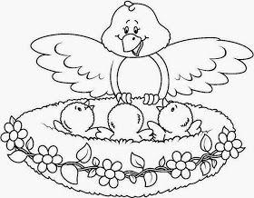 Maestra De Infantil Dibujos De Animales Para Colorear Igual A Un Modelo Muy Bonitos Animalitos Para Colorear Pajaros Para Colorear Libro De Colores