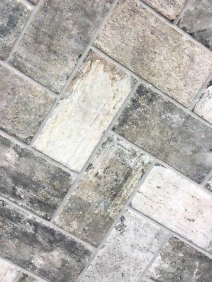 Gray Brick Look 4x8 Porcelain Tile Wall Floor Backsplash Kitchen One Piece Ebay Brick Backsplash Kitchen Brick Tile Floor Room Flooring