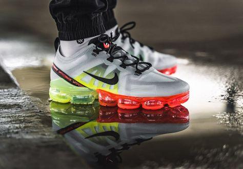 official photos separation shoes united kingdom Nike Air Vapormax 2019 grise vert fluo et rouge (2) en 2019 ...