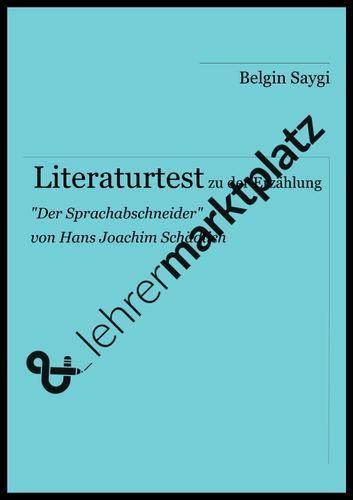 Literaturtest Zu Der Erzahlung Grammatikunterricht Literatur Wortarten