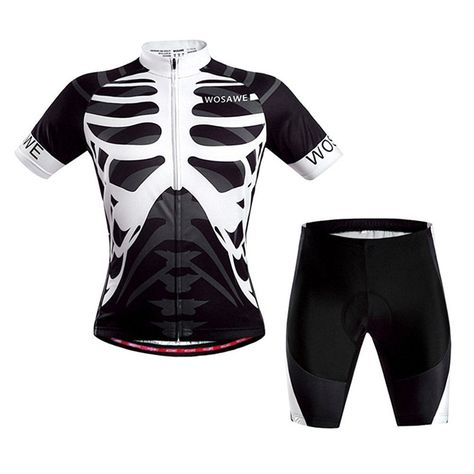 Bike Jersey Kits for Men Cycling Apparel Padded Biking Half Pants Sets Quick Dry