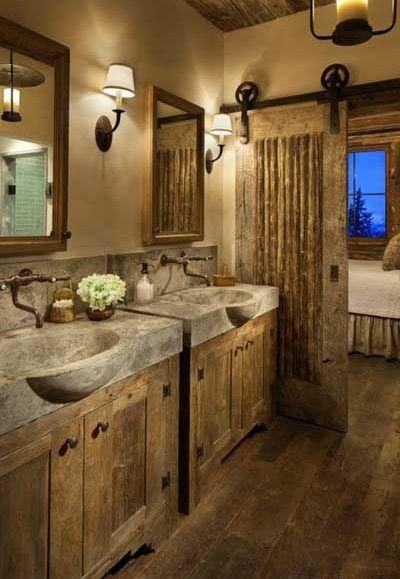 Schone Badezimmer Designs Mit Mediterranen Und Rustikalen Stil Badezimmer Rustikal Rustikale Bad Eitelkeiten Rustikales Badezimmer Dekor