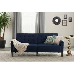 c49a7a4a158680ba1e628c6a26fe93dc - Better Homes & Gardens Porter Fabric Tufted Futon Rust Orange