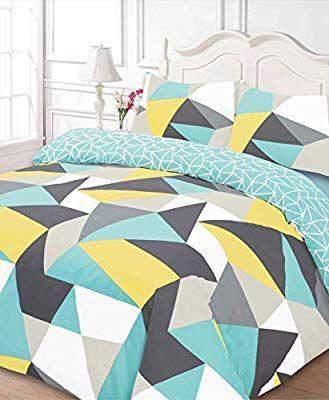Dreamscene Funky Shapes Duvet Bedding Set With Pillowcases