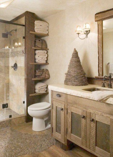 Craft Outlet Rustic Waste Basket With Handles 12 Inch Small Bathroom Remodel Rustic Bathroom Designs Rustic Bathroom Accessories