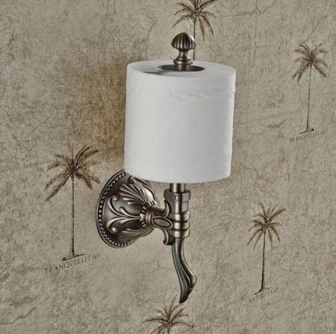 Vintage roles soporte baño-papel higiénico soporte WC roles de papel soporte WC
