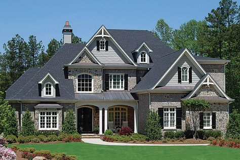 French Country House Plans, European House Plans, Luxury House Plans, Country French, French Country Exterior, French Countryside, Future House, My House, Story House