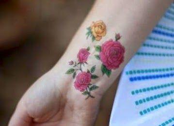 Tato Tangan Bunga Mawar