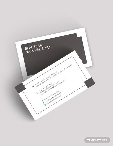Dentist Business Card Template Word Psd Apple Pages Illustrator Publisher Examples Of Business Cards Business Card Template Word Business Card Template Design