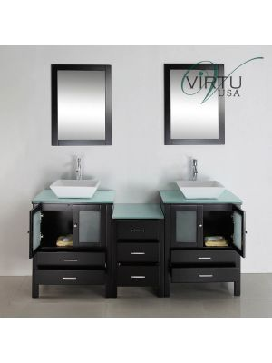 72 Brentwood Double Sink Vanity 72 Inch Bathroom Vanity
