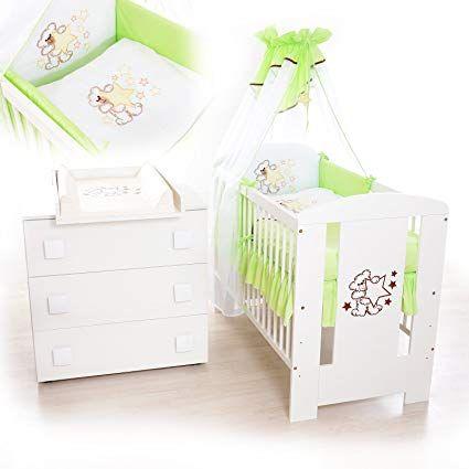 Babyzimmer Weiss Sparset Incl Babybett Wickelkommode