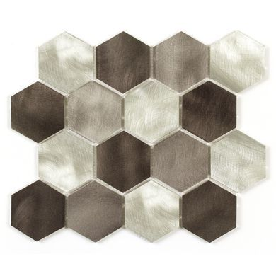 Carrelage Mosaique Rhodium Aluminium Hexagonal 30 X 30 Cm Carrelage Mosaique Carrelage Hexagonal Et Carrelage