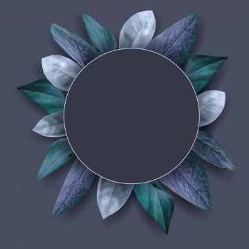 Grey Circle Vintage Frames With Leaves Isolated On Dark Vector Image Background Beautiful Blossom Png And Vector With Transparent Background For Free Downloa Vintage Frames Watercolor Circles Vintage Photo Frames