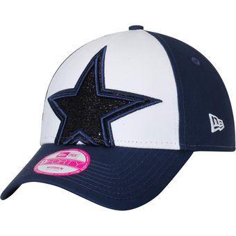 9cd3ad616284c Women s Dallas Cowboys New Era Navy Glitter Glam 9FORTY Adjustable ...