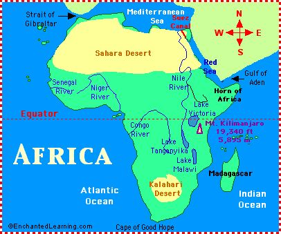 Map Of Africa Geography.Pinterest