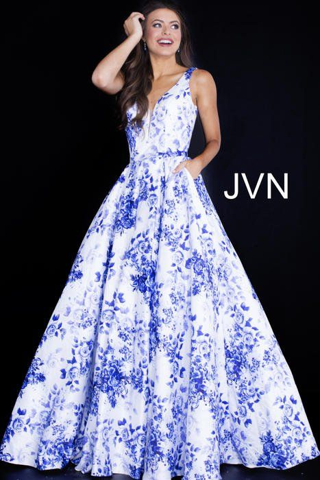 online for sale cheap prices clearance sale JVN Prom Collection JVN60561 | Prom dresses jovani, Floral prom ...
