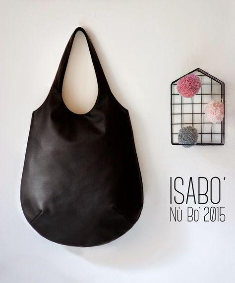 #ISABO' #NùBo' finta pelle Nera http://it.dawanda.com/shop/isabo-borse-in-stoffa