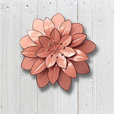 Amazon Com Juegoal Flores De Metal Para Decoracion De Pared Para Interiores Y Exteriores Para El Hog Metal Wall Flowers Flower Wall Art Decor Metal Flowers