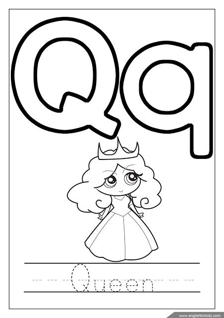 Letter Q Coloring Queen Coloring Abc Coloring Page Lion