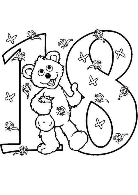 21 Easy To Learn Number Coloring Pages For Your Little Ones
