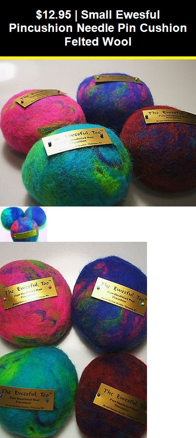 Ewesful Pincushion Large 5 Round Multi Color Felted Wool Pin Cushion