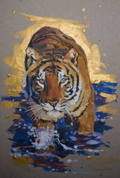 """Face of the Tiger 8.5x11/"""" Photo Print Wild Animal Art Abstract Fierce Big Cat"""