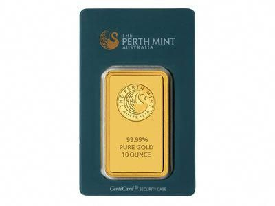 Perth Mint Gold Bullion Ten Ounce 10 Oz Bar Goldbullion Gold Bullion Today Gold Price American Eagle Gold Coin