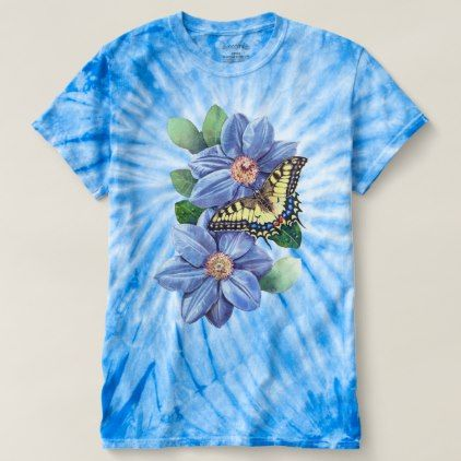 Watercolor Butterfly Cyclone Tie Dye T Shirt Zazzle Com Shirt