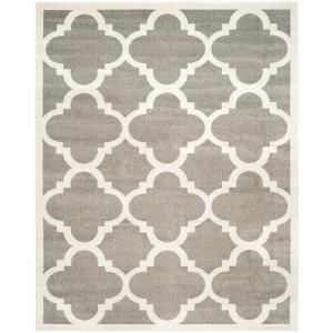 Safavieh Amherst Beige Light Gray 9 Ft X 12 Ft Indoor Outdoor Area Rug Amt423e 9 The Home Depot Outdoor Rugs Patio Patio Rugs Contemporary Area Rugs