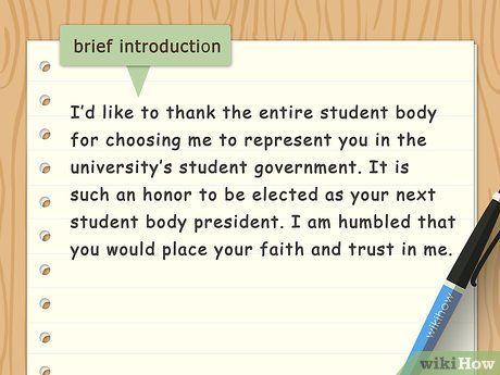 Write An Acceptance Speech Acceptance Speech Speech Student