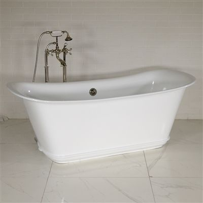 The Charroux Wh 67 67 Freestanding Cast Iron Chariot Tub With