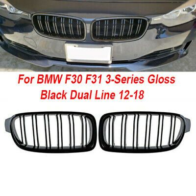 Ebay Advertisement Abs Car Front Grille Exterior Decal 1 Pair Dual Line Left Right Useful In 2020 Bmw Gloss Black Grilles