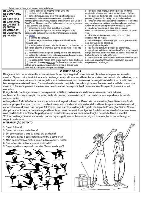 Atividades Diversas Claudia Atividades De Arte Sobre Danca