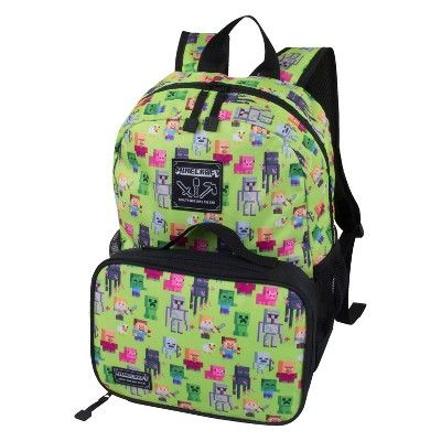 MINECRAFT All Over BACKPACK 16in BOOK BAG ALL-OVER PRINT SCHOOL Tote
