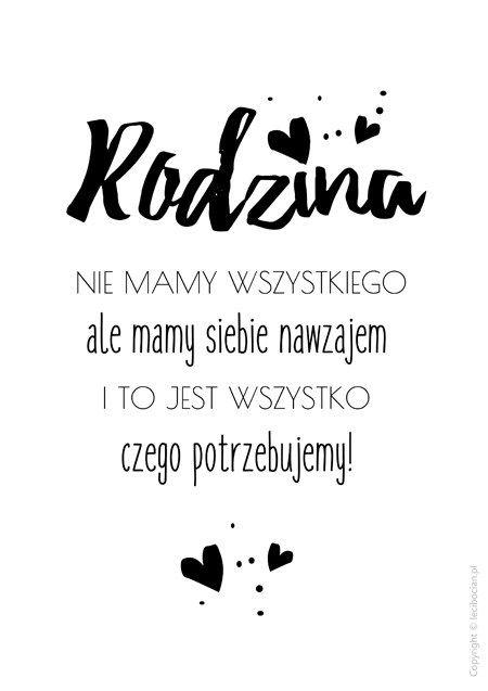 Plakat Rodzina Cytaty Pozytywne Cytaty I Hasła Motywacyjne