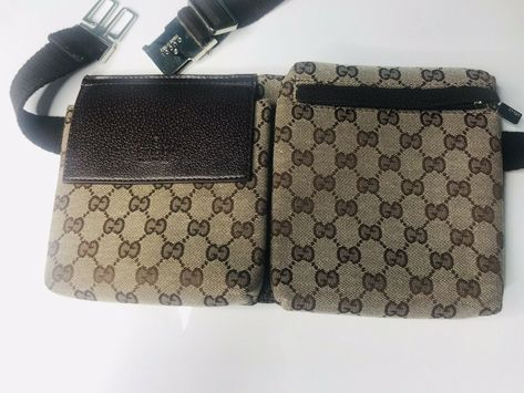 539768a3bbeb6 #FORSALE Gucci Waist Pouch Bumbag Belt Bag Fanny Pack Brown Monogram Canvas  - $182