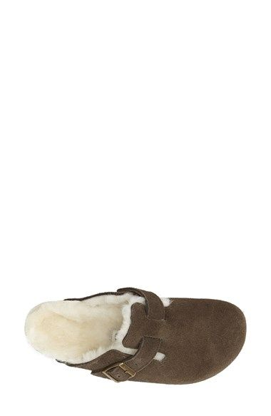 8346d9a8129 Birkenstock  Boston  Genuine Shearling Lined Clog (Women ...