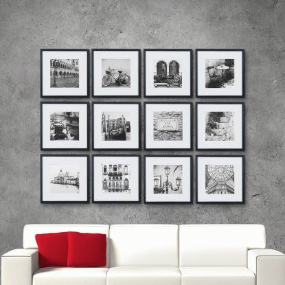 Nielsen Bainbridge Wall Picture Frame Kit With Mat Set Of 12 Hayneedle Gallery Wall Kit Gallery Wall Frames Picture Wall Bedroom